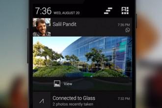 google glass bildirim