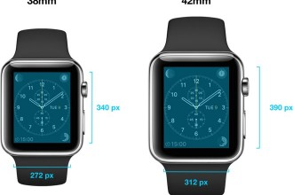 apple watch çözünürlük