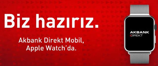akbank direkt mobilapple watch uygulaması