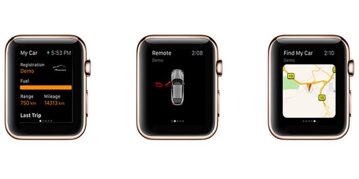 porsche apple watch uygulaması