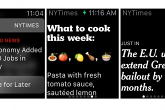 thenewyorktimes apple watch uygulaması