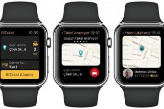 bi taksi appple watch uygulaması