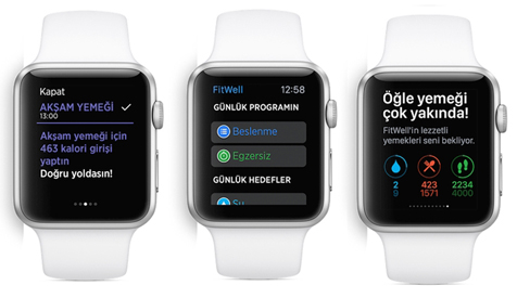 fitwell apple watch uygulaması