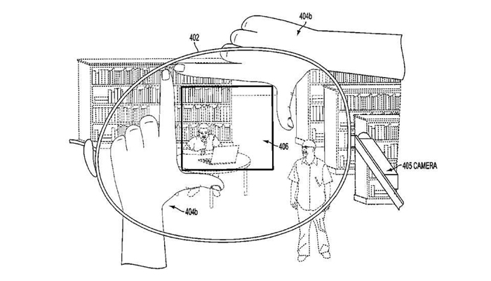 google glass parmak patent