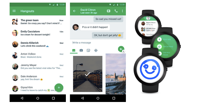 android wear hangouts
