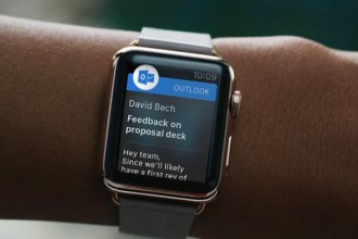 microsoft outlook apple watch