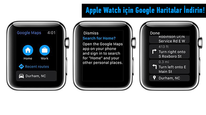 google haritalar apple watch