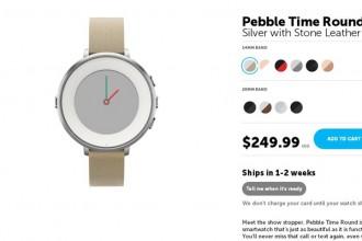 pebble time round satış