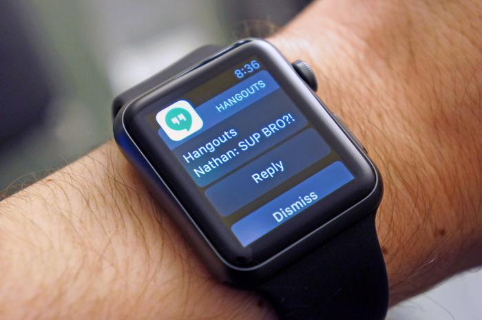 apple watch google hangouts