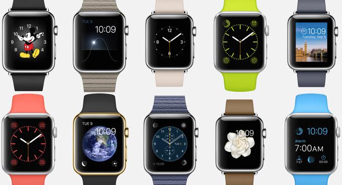 apple watch saat arayüzü